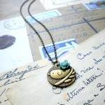 Bird Necklace - Flower Necklace - V..