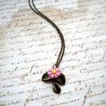 Leaf Necklace - Sun Flower Necklace..