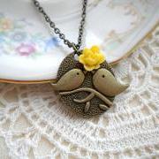 Love Birds Pendant - Bird Necklace