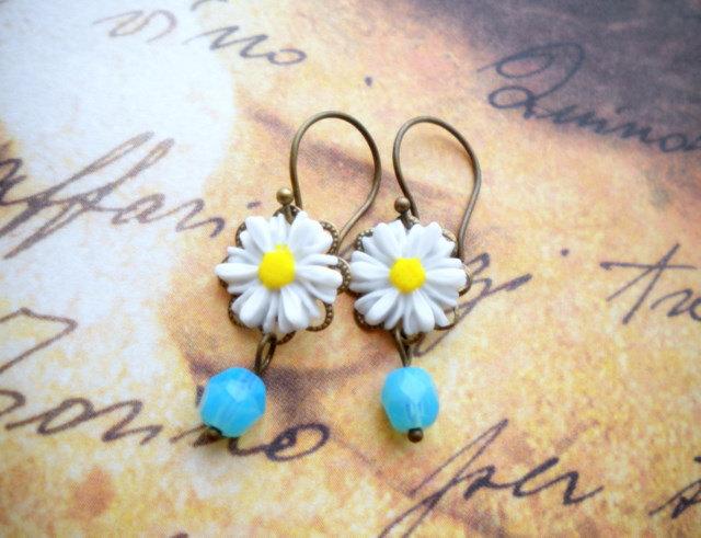 Flower Earrings - Turquoise Earrings