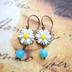 Flower Earrings - Turquoise Earring..